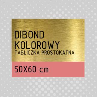 Tabliczka prostokątna DIBOND KOLOROWY 50×60 cm