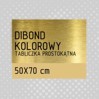 Tabliczka prostokątna DIBOND KOLOROWY 50×70 cm