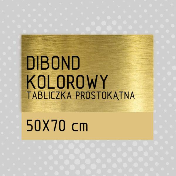 sklep z pomysłem Tabliczka DIBOND KOLOROWY 50x70 cm