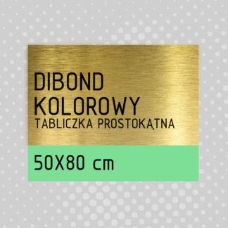 Tabliczka prostokątna DIBOND KOLOROWY 50×80 cm