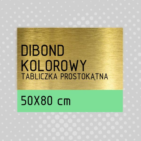 sklep z pomysłem Tabliczka DIBOND KOLOROWY 50x80 cm