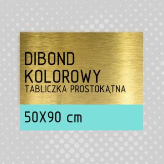 Tabliczka prostokątna DIBOND KOLOROWY 50×90 cm
