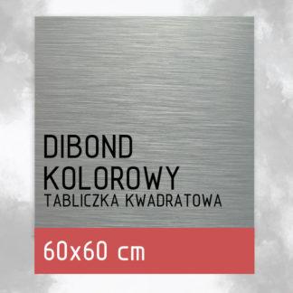 Tabliczka DIBOND KOLOROWY 60×60 cm