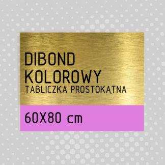 Tabliczka prostokątna DIBOND KOLOROWY 60×80 cm