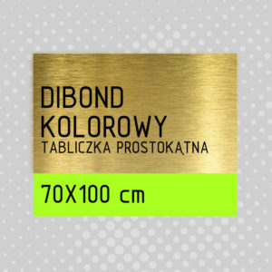 sklep z pomysłem Tabliczka DIBOND KOLOROWY 70x100 cm