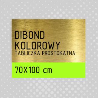 Tabliczka prostokątna DIBOND KOLOROWY 70×100 cm