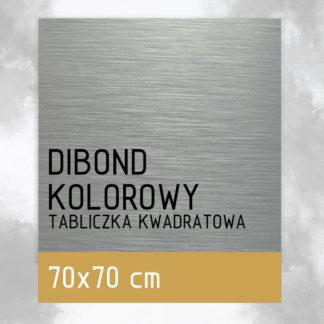 Tabliczka DIBOND KOLOROWY 70×70 cm
