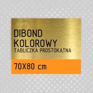Tabliczka prostokątna DIBOND KOLOROWY 70×80 cm