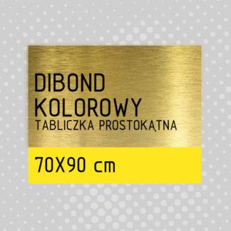 Tabliczka prostokątna DIBOND KOLOROWY 70×90 cm