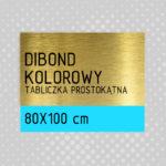 Tabliczka prostokątna DIBOND KOLOROWY 80×100 cm