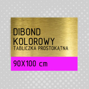 sklep z pomysłem Tabliczka DIBOND KOLOROWY 90x100 cm