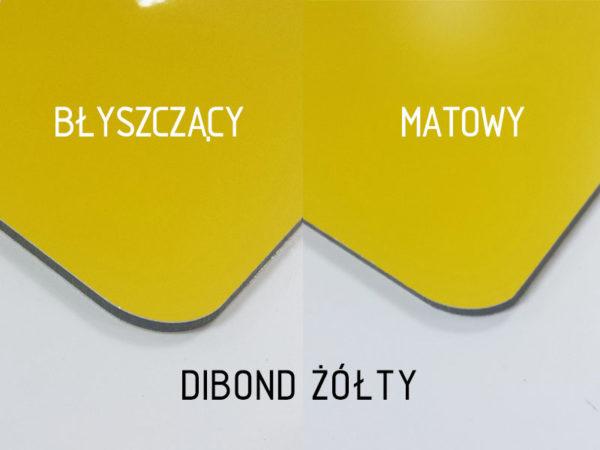 sklep z pomysłem dibond żółty