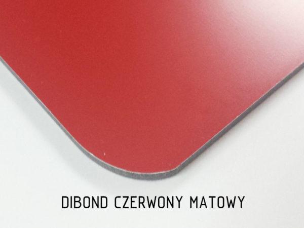 sklep z pomysłem dibond czerwony matowy