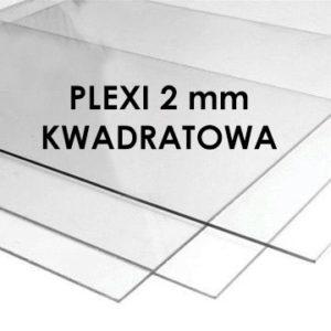 Plexi bezbarwna błyszcząca 2mm kwadratowa do ramek (różne formaty)