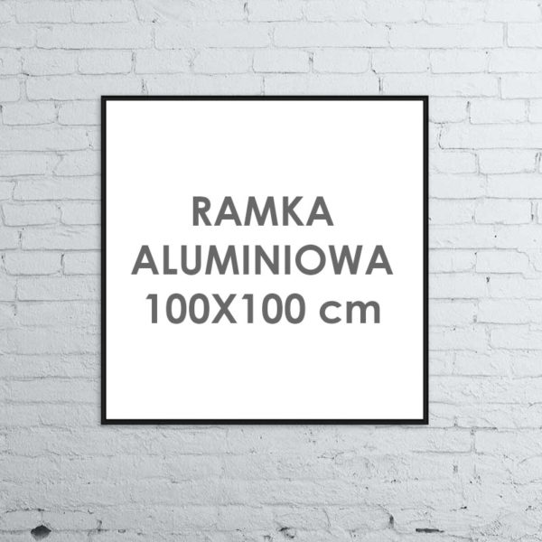 Rama aluminiowa kwadratowa ALU G3 100x100 cm
