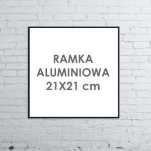 Rama aluminiowa kwadratowa ALU G3 21x21 cm