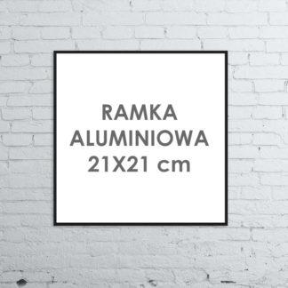 Rama aluminiowa kwadratowa ALU G3 21×21 cm