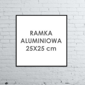 Rama aluminiowa kwadratowa ALU G3 25x25 cm