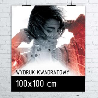 Wydruk kwadratowy w formacie 100×100 cm