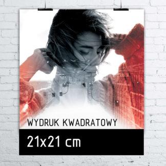 Wydruk kwadratowy w formacie 21×21 cm