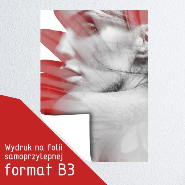 Wydruk na folii samoprzylepnej format B3