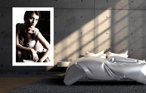 plakat w dużym formacie sypialnia zdjęcie kobiety