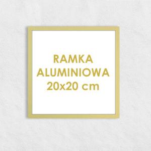 Rama aluminiowa kwadratowa ALU F5 20x20 cm
