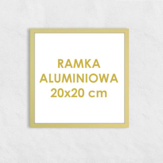 Rama aluminiowa kwadratowa ALU F5 20×20 cm
