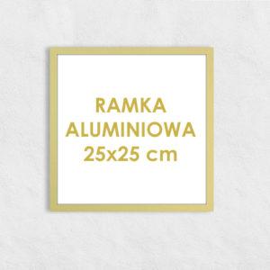 Rama aluminiowa kwadratowa ALU F5 25x25 cm