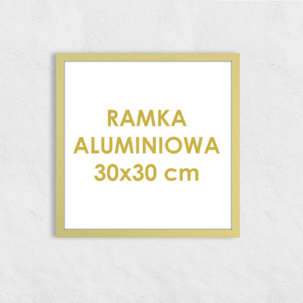Rama aluminiowa kwadratowa ALU F5 30x30 cm