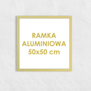Rama aluminiowa kwadratowa ALU F5 50x50 cm