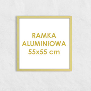 Rama aluminiowa kwadratowa ALU F5 55x55 cm