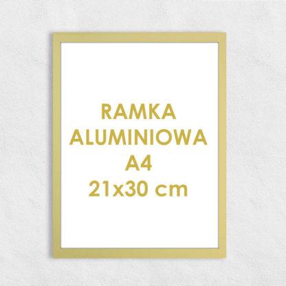 Rama aluminiowa prostokątna ALU F5 A4 21×30 cm