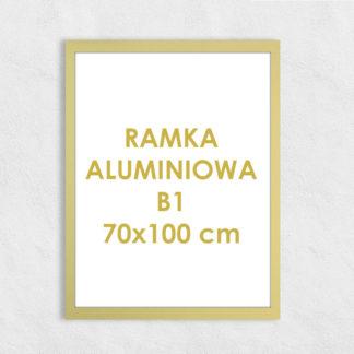 Rama aluminiowa prostokątna ALU F5 B1 70×100 cm