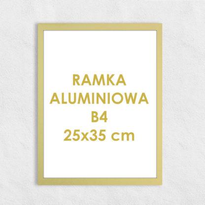 Rama aluminiowa prostokątna ALU F5 B4 25×35 cm