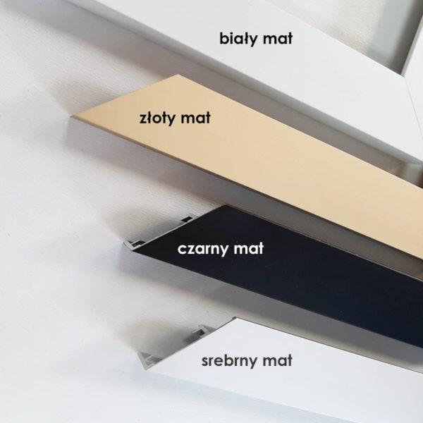 Rama aluminiowa kwadratowa ALU F5 kolory profili